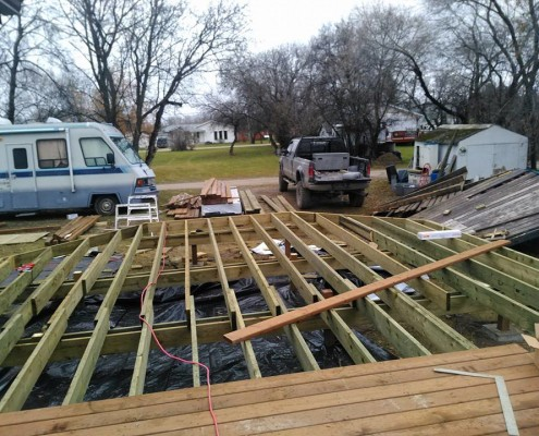 Deck build before 3-tri square construction