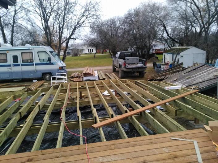 Deck build before 3-tri square construction