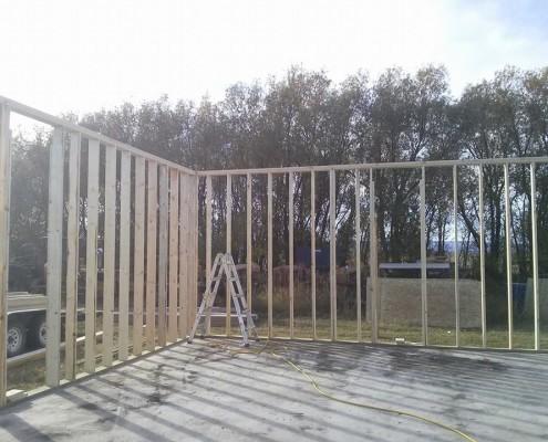 Framing a building 2-tri square construction