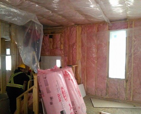 Installing the insulation-tri square